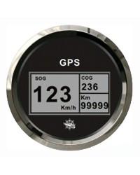 Speedomètre/totaliseur/boussole GPS GUARDIAN noir-argentée