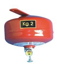 Extincteur automatique à pluie de poudre catégories ABC 2Kg