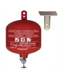 Extincteur automatique à pluie de poudre pour fixation support basculant plafond