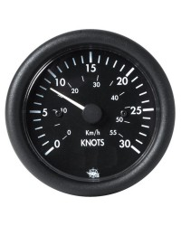 Speedomètre GUARDIAN 0 à 50 noeuds 12V - noir