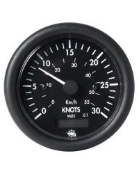 Speedomètre + compteur milles GUARDIAN 0 à 50 noeuds + compteur 12V - noir