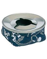 Cendrier acier inox bleu