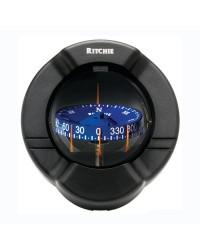 Compas RITCHIE Venturi Sail 94 mm sur paroi boitier noir - rose bleue