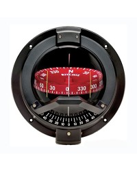 Compas RITCHIE Navigator Sail 114 mm avec éclairage - boitier noir - rose rouge