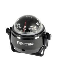 Compas Finder sur étrier 2'' boitier noir - rose noire