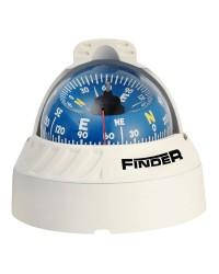 Compas Finder sur étrier 2'' 5/8 - boitier blanc - rose bleue