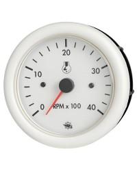 Compte-tours Guardian diesel 4000 RPM 12V blanc