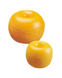 Flotteur en polyéthylène avec trou central jaune 170mm