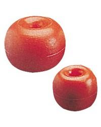 Flotteur en polyéthylène avec trou central rouge 170mm