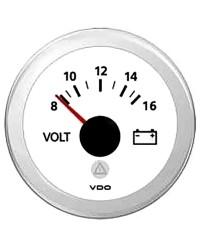 Voltmètre VDO ViewLine 8/16 V blanc