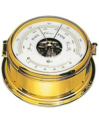 Baromètre/thermomètre Barigo doré 180 mm