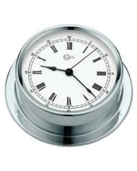 Horloge BARIGO Regatta laiton chromé - cadran blanc