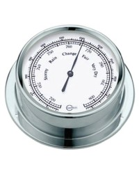 Baromètre BARIGO Regatta laiton chromé - cadran blanc