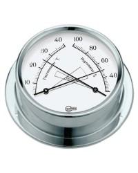 Hygro/thermomètre BARIGO Regatta laiton chromé - cadran blanc