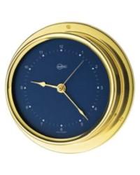 Horloge BARIGO Regatta laiton chromé - cadran bleu