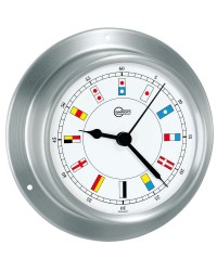 Horloge Barigo SKY inox satiné - cadran blanc