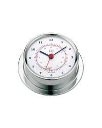 Horloge Barigo SKY inox poli - cadran blanc
