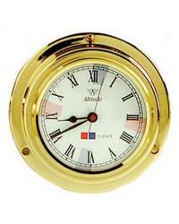 Horloge quartz Altitute 842 en laiton brillant et émaillé