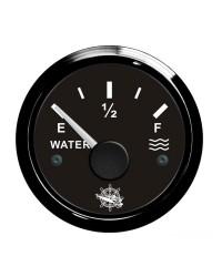 Jauge d'eau GUARDIAN 240-33 ohms cadran noir, lunette noire
