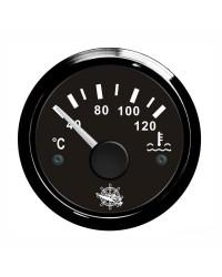 Indicateur de température d'eau 40-120° cadran et lunette noire