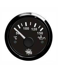 Indicateur de température de l'huile GUARDIAN 240-33 ohms cadran noir, lunette noire