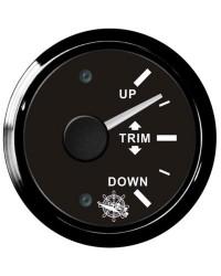 Indicateur TRIM GUARDIAN 0-190 ohms cadran noir, lunette noire