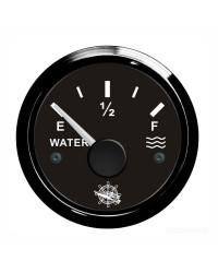 Jauge d'eau 10-180 Ohms cadran noir - lunette noire