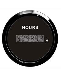 Compte-heures numérique GUARDIAN cadran noir, lunette noire