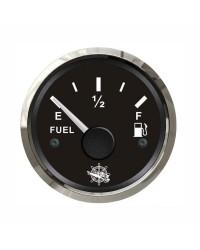 Jauge de carburant GUARDIAN 240-33 ohms cadran noir- lunette argentée
