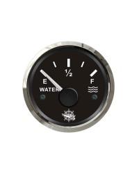 Jauge d'eau GUARDIAN 240-33 ohms cadran noir, lunette argentée