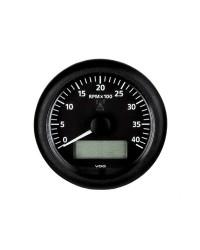 Compte-tours avec horamètre + voltmètre + compte heures VDO ViewLine 6000 RPM - 12/24V - noir-noir