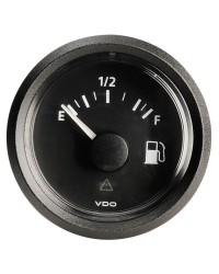 Indicateur niveau carburant 10/180 ohm VDO View Line 12V - noir