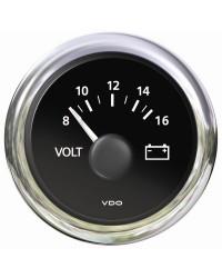 Voltmètre 8/16v VDO View Line - 12V - noir