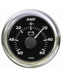 Ampèremètre -60A+60A VDO View Line - 12/24VV - noir