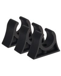 Clips caoutchouc pour tube ø28/30 mm noir
