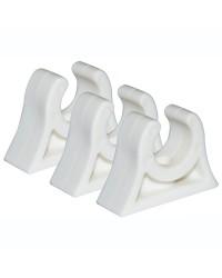 Clips caoutchouc pour tube ø28/30 mm blanc