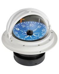 Compas Riviera 4'' avec dôme de protection télescopique rose plate blanc/noir