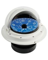 Compas Riviera 4'' avec dôme de protection télescopique rose plate blanc/bleu