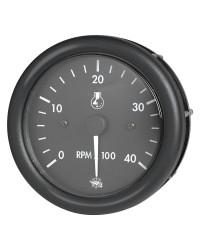 Compte-tours + heures GUARDIAN 4000 RPM diesel 12V noir-noir