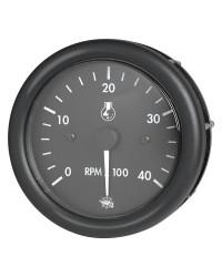 Compte-tours + heures GUARDIAN 4000 RPM diesel 24V noir-noir