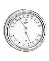 Thermomètre/Hygromètre Barigo Orion blanc/inox