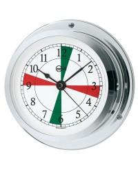 Horloge BARIGO chromé + radiosecteurs