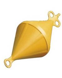 Bouée biconique 27x60 jaune