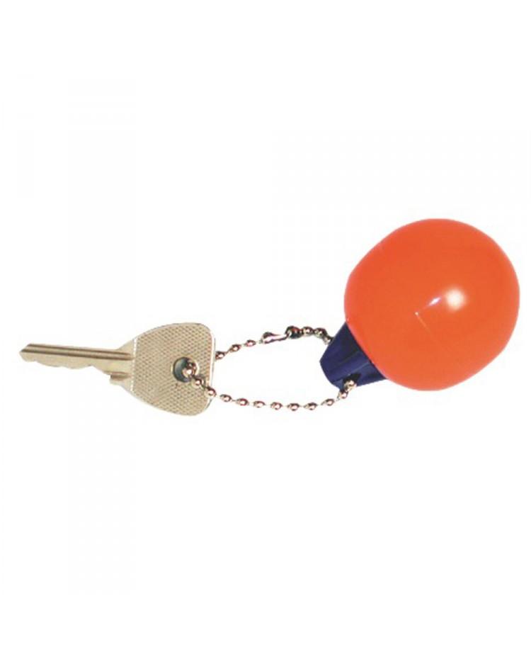 Porte clés pare-battage rond rouge/bleu