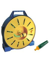 Tuyau en PVC armé sur tambour enrouleur + lance