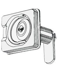 Fermeture inox avec clé 50x55 pour écoutilles ou coquerons