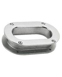 Ecubier ovale inox 241 x 146 mm