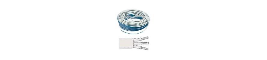Cable électrique tripolaire bleu blan jaune