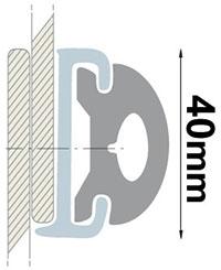 Profil liston duralène C osculati